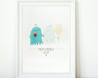Personalized printing. Wedding. Octopus fair. Love wins
