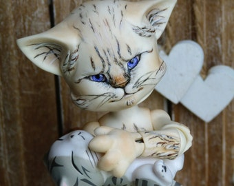 OOAK GRUMPFY CAT Bengaloo (artist cast bjd)