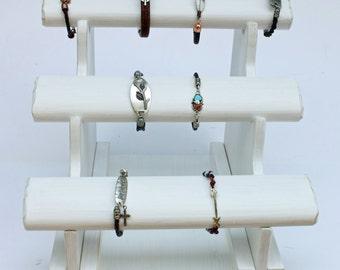 Jewelry Display, Triple T Bar, Take Apart, Bracelet Display, Jewelry Holder, Bracelet holder, Wood bracelet holder, Wood Jewelry Display