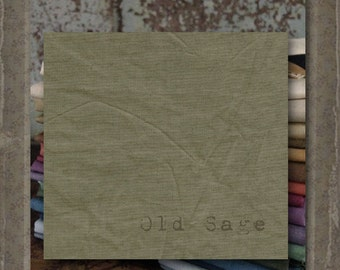 Fabric 1 YARD: Aged Muslin Cloth (New) - OLD SAGE 114 Marcus Fabrics
