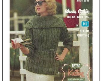 1950s Hipster Jumper Vintage Knitting Pattern – PDF Knitting Pattern -  Instant Download