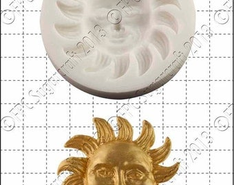 Sun silicone mould (mold) - 'Man in the Sun' by FPC Sugarcraft | resin mold, fimo mold, polymer clay mold, soapmaking mold C005
