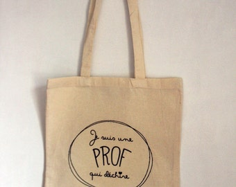 "Tote Bag personalized ""I'm one who tears"""