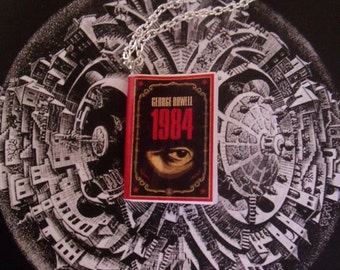 Collana miniatura libro 1984 - George Orwell book necklace