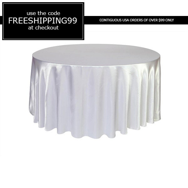 120 inch white satin round tablecloth wedding by for 120 inch round table cloths