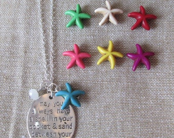 Sterling Silver Beach Blessing Necklace by The Darling Duck