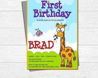 birthday invitation printable,Birthday Invitation,1st Birthday Invitation,boy printable,KIDs Birthday,printable invitation,PRINTABLE CARD