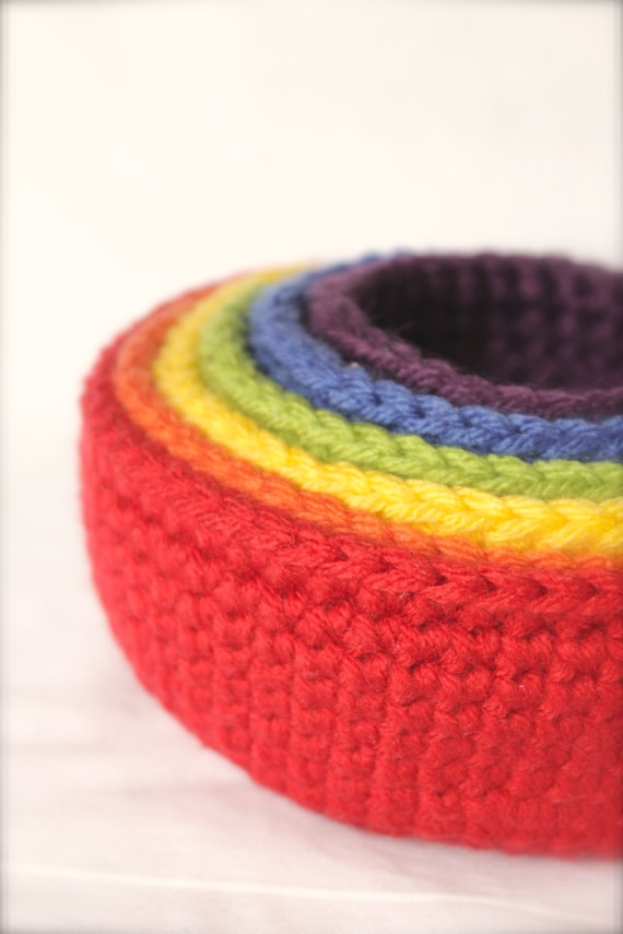 Set of 6 Crochet Stacking Bowls Crochet Bowls by ...