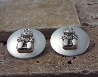 Southwest  Earrings Sterling Silver Native Dolls Carol Felley 89 Story Teller Jewelry