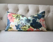 Radiant Floral -  LUMBAR - Designer Pillow Cover - 1 SIDED or 2 SIDED - Choose Your Size