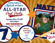 ALL-STAR pool party Invitation