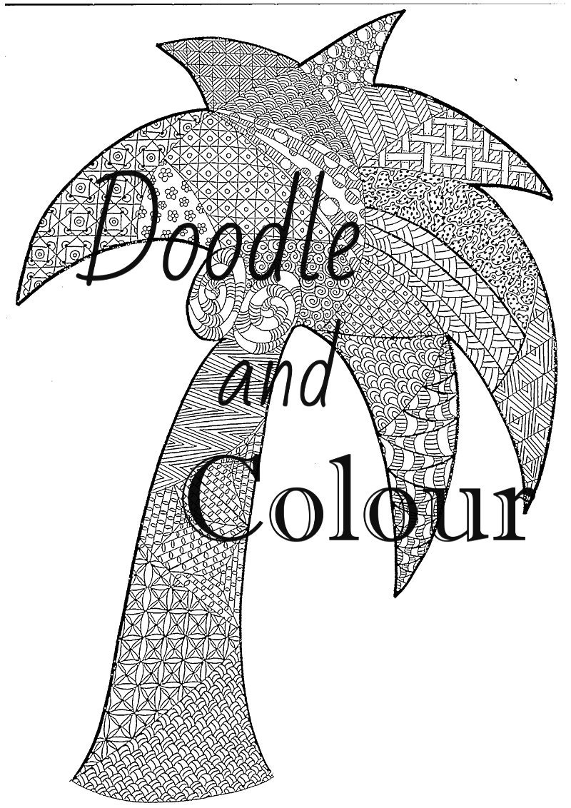 Tree Adult Colouring Page Instant Download Printable