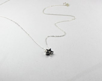 initial star necklace, Silver star necklace, personalized star necklace, star initial necklace, Monogram gift ,customized jewelry,gift for