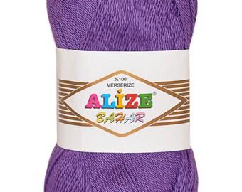 Summer yarn. Mercerized cotton.