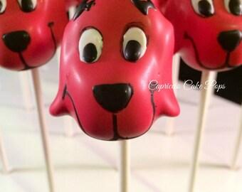 Red dog cake pops