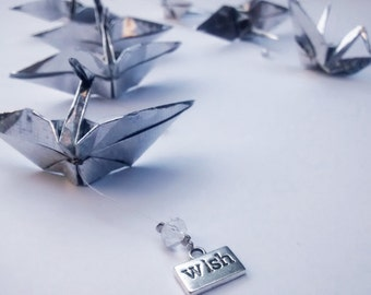 Origami Crane Mobile with holographic and metal paper