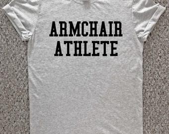 ARMCHAIR athlete t shirt, athlete tshirt, funny sports shirt, funny work t shirt, funny tshirt, funny office t shirt,