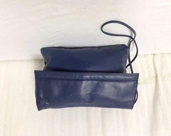 Albi ,leather purse,bag,blue leather purse,Bags, purses,soft leather,shoulder bag