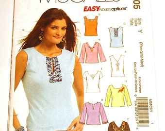LAST CHANCE SALE - McCall's 5105 - Misses Shirt Pattern - Sizes Extra Small, Small, and Medium