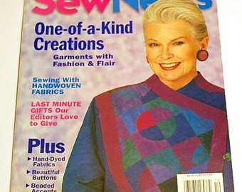 Sew News Magazine - December 1998 - Holiday Napkin Pattern and More! Last Minute Gifts to Sew