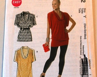 LAST CHANCE SALE - McCalls 6242 - Misses Pullover Tunic Pattern in Two Lengths - Size Extra Small, Small, and Medium - Easy Sewing Pattern