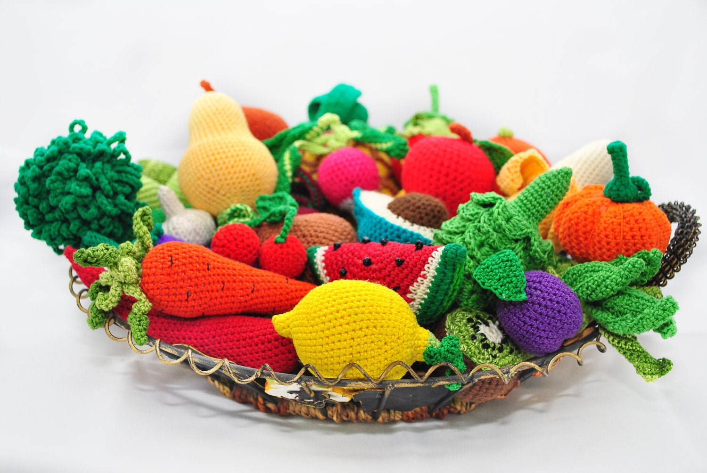 Amigurumi Vegetables : Amigurumi pattern crochet play food patterns