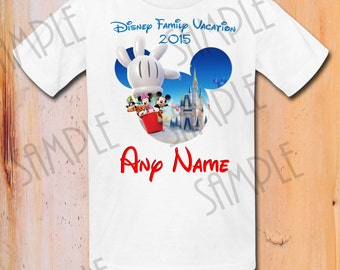 Disney Family Vacation shirts Iron On Transfer Printable trip to Disneyworld Any Name digital download Custom Disney Matching Family shirts