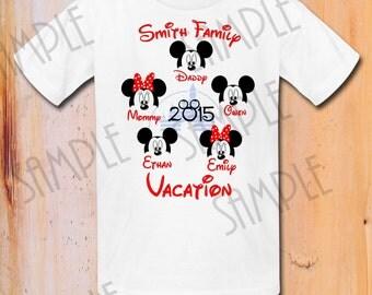 Disney Family Vacation t shirts Iron On Transfer Printable trip to Disneyworld digital download Custom Disney Family Vacation iron on