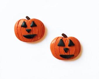 Halloween Magnets - Jack o Lantern Magnets - Polymer Clay Magnets - Pumpkin Magnets - Fridge Magnets - Kitchen Magnets