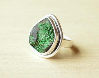 Uvarovite Green Garnet Ring