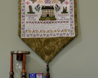 Sampler Through the Stones - an Outlander inspired cross stitch sampler pattern
