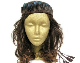 Feather Headband, Boho Feather Headband, Feather Headdress, Bohemian headband, Indian Headband, Hippie headband, Feather Hairband, Tribal