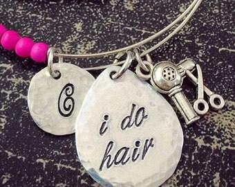 Cosmetology Jewelry - Hair Stylist - Bracelet - Beautician - Beauty Salon - I Do Hair