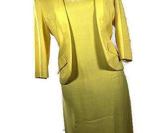 1960's Dress Suit. 1960's Jacobsens Suit Dress Made In USA Size XLarge