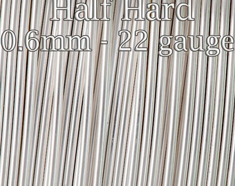 20FT (6mt), Silver filled wire Half Hard round 22ga 0.6mm, silver filled sterling silver alternative, silver filled wire tarnish resistant