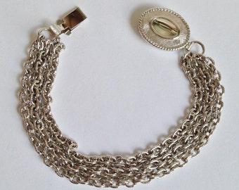 AVON 5 Strand Silver Chain Bracelet