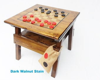 Childrens Furniture Kids Checkers Game Table, Boy/ Girl Activity Table,  Home/Garden
