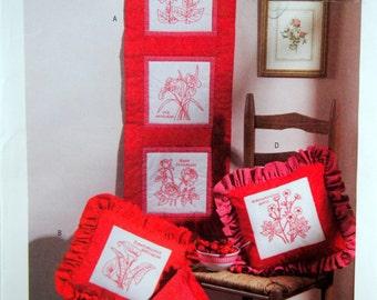 Botanical Redwork Accessories Butterick B4149 Uncut Sewing Pattern 2004