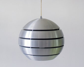 Modern, alluminum space age lamp, hanging lamp