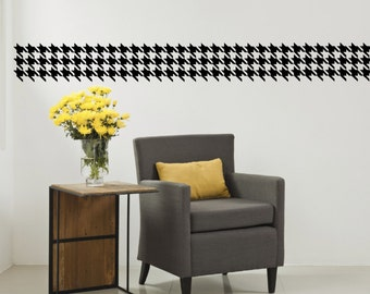 Houndstooth Wall Decal - Houndstooth Border - Houndstooth Wall Decor - Wall Decal - Houndstooth Design - Geometric - Living Room