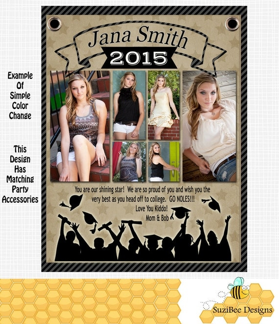 Yearbook ad template high school senior middle elementary for Half page flyer template free