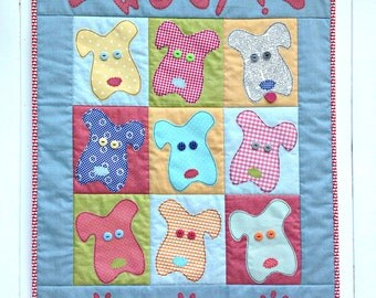 Woof! patchwork quilt pattern - PDF