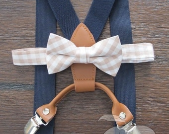 Light Brown Bowtie, Brown Bowtie, Toddler, Toddler Bows, Baby BowTie suspenders, Bow Tie and Suspenders, Suspenders with a Boy Tie For Boy