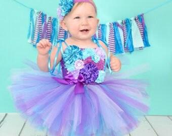 Under the Sea 1st Birthday Tutu Dress, Under the Sea 1st Birthday Dress, First Birthday Dress, Beach Flower Girl Dress