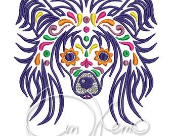 MACHINE EMBROIDERY DESIGN - Calavera Chinese Crested, Dia de los muertos, Mexican design, Halloween design, calavera dog, Day of the dead