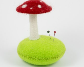 Needle Felted Toadstool Pin Cushion