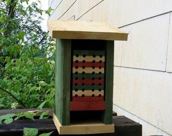 Mason Bee House Native Pollinator Handmade Cedar Habitat
