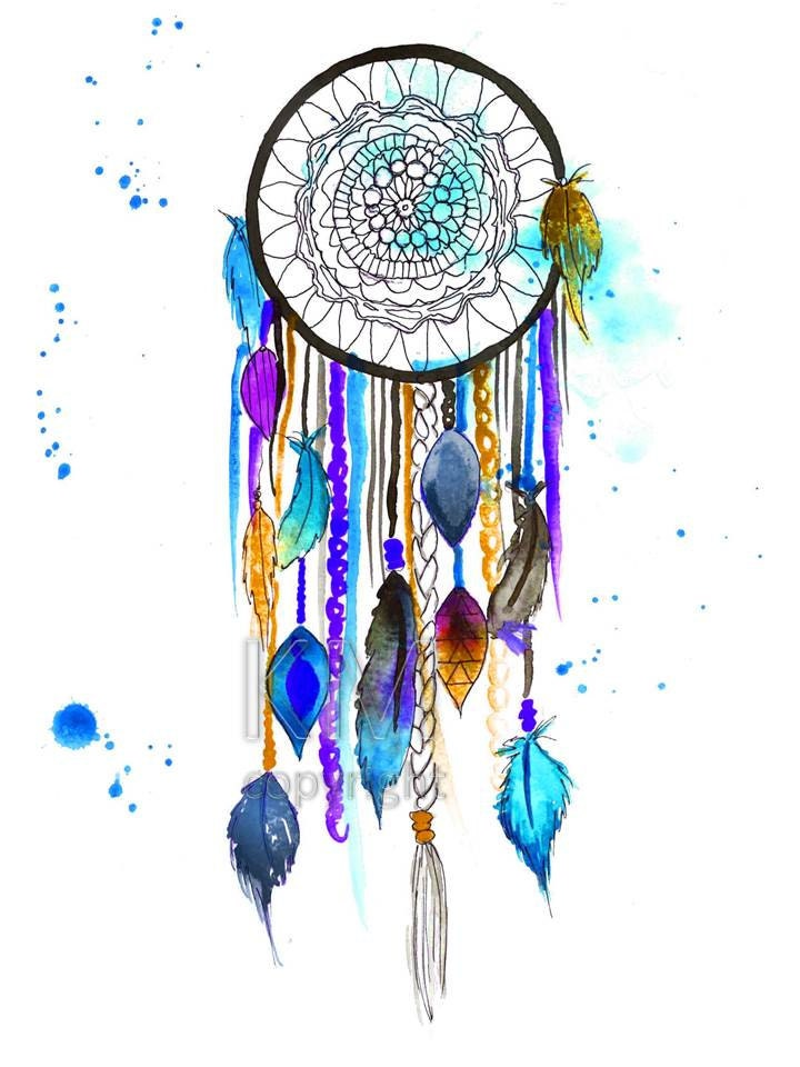 Dream Catcher 3.1 Print of Original Watercolor Painting