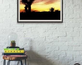 Joshua Tree Photograph // National Park // Nature Print // Silhouette // California // 8x10