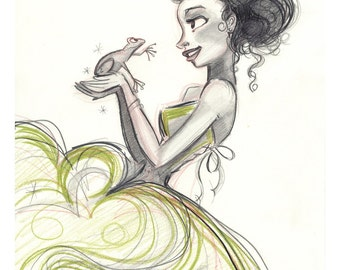 "Princess and The Frog 8x10"" Print"